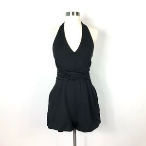 Guess | Deep V Neck Black Romper Sexy size small
